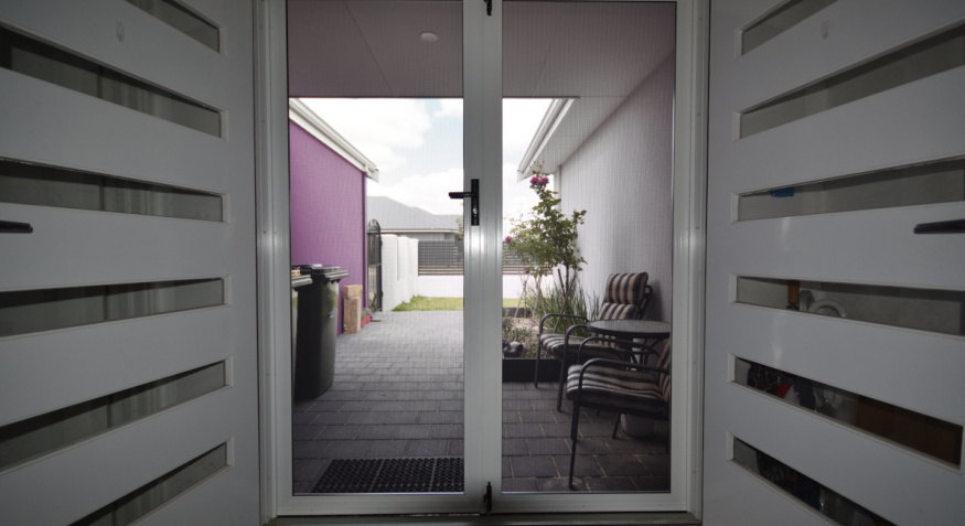ClearShield Double Entry Doors, Viewed from Inside