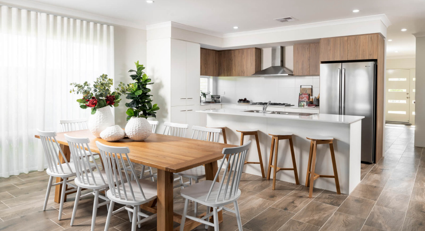 Liberty Display Home Kitchen and Dining Room