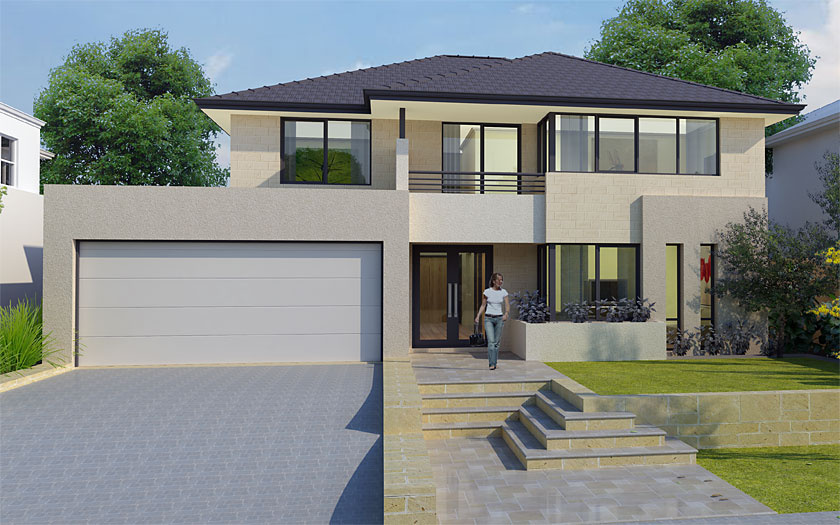 House plans and design house plans double story australia for Simple double storey house plans