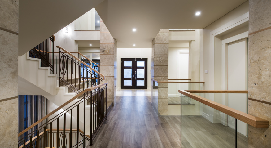 Luxury custom hallway