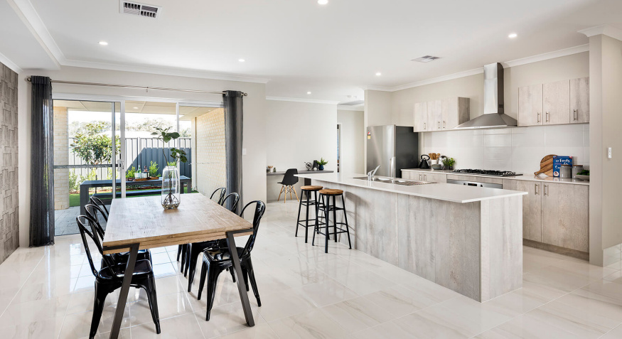 Florence Display Home Kitchen and Dining Room