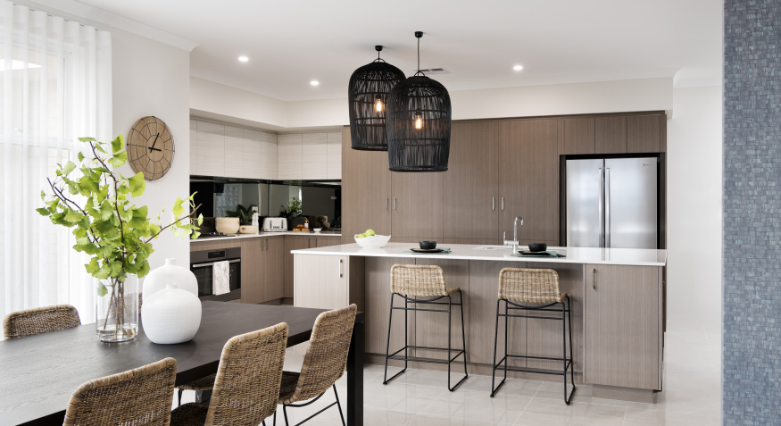Coral Bay Display Home Kitchen and Dining Room