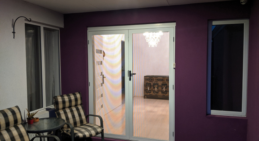 Clearshield Double Entry Doors, Viewed from outsite