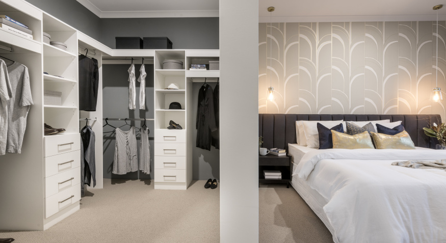 Northport Display Home Master Bedroom and Walk In Robe