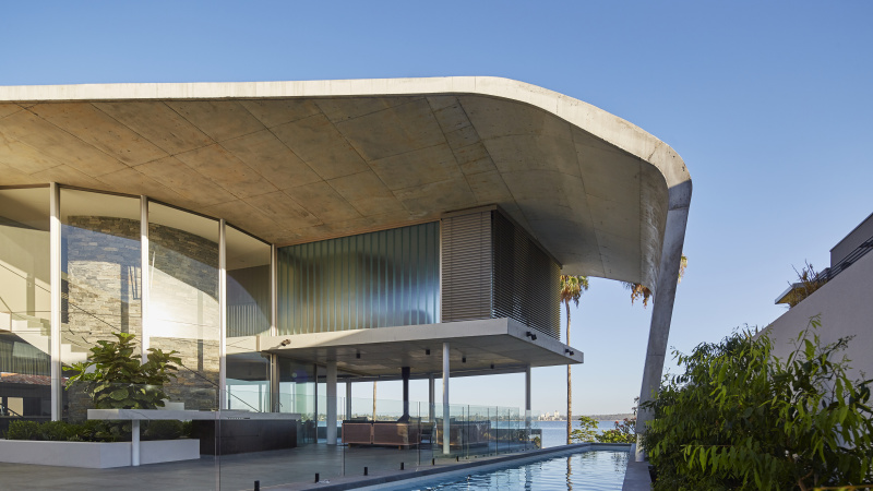 The Riverside Concrete Sail House by LUXUS Homes