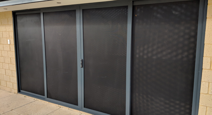 Proprietary Cyclonic Rated Tracking system allowing for all Security Panels to slide