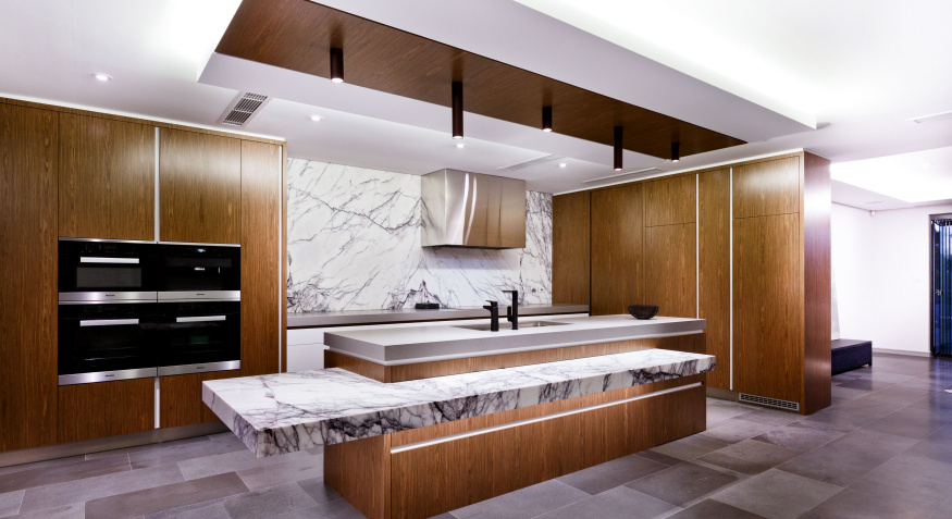 Marble custom kitchen